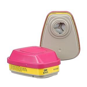 3M Organic Vapor/Acid Gas Cartridge/Filter 60923, P100 Respiratory Protection