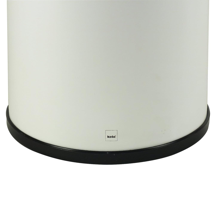 Kela Linda 321365 Portaombrelli in Metallo Colore Bianco