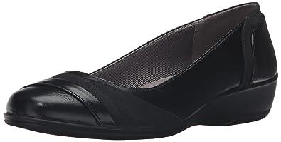 LifeStride Women's Indeed Ballet Flat, Black, ...
