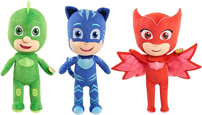 PJ Masks 14 Feature Plush - Set of 3 - Catboy, Owlette & Gekko