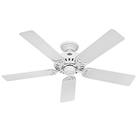 Hunter 25517 summer breeze 52 inch 5 blade ceiling fan white with hunter 25517 summer breeze 52 inch 5 blade ceiling fan white with white mozeypictures Images