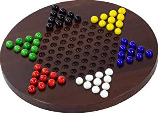 product image for Dark Maple Chinese Checkers - Made in USA
