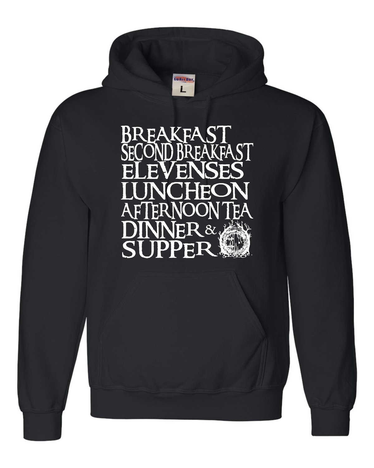 Go All Out Adult The Seven Daily Meals Sweatshirt Hoodie