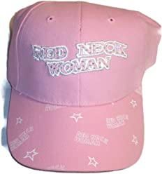 d248cc6e06b65 Embroidered Pink Redneck Woman Baseball Cap