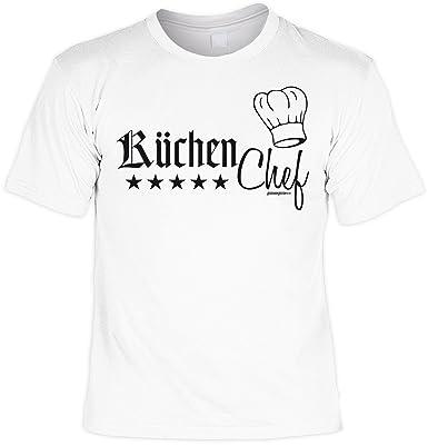 Koch Küchen Küchenversteher T-Shirt - KÜCHENCHEF Sprüche lustige  Kochbekleidung Sterne Koch Geschenk für Ihn in weiss : ): Amazon.de:  Bekleidung