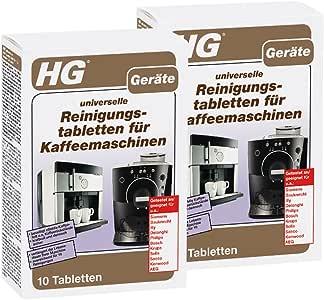 HG universal pastillas de limpieza para cafeteras, 2 unidades (2 x ...