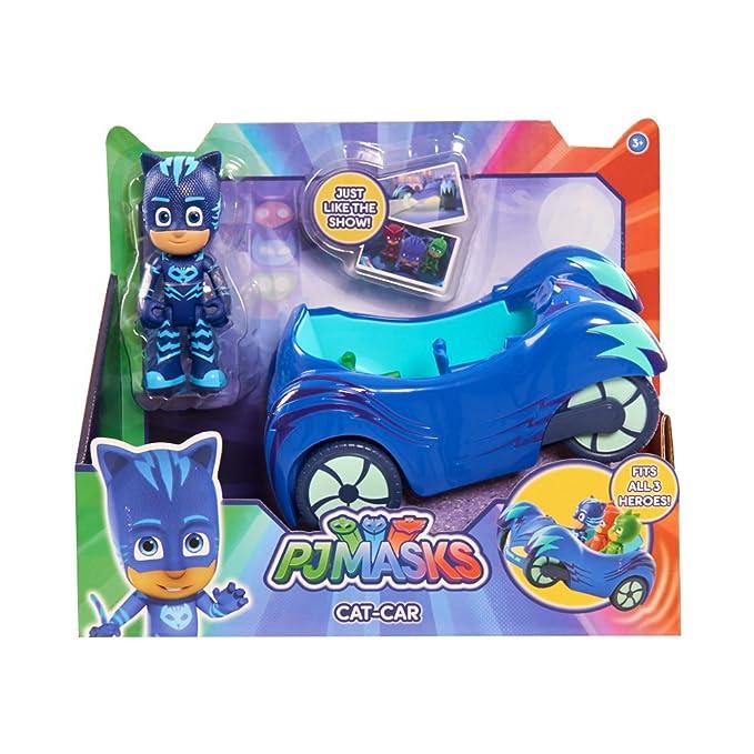 P.J Masks - Vehículo con muñeco, 21 x 18 cm (Bandai 24575): Amazon.es: Juguetes y juegos