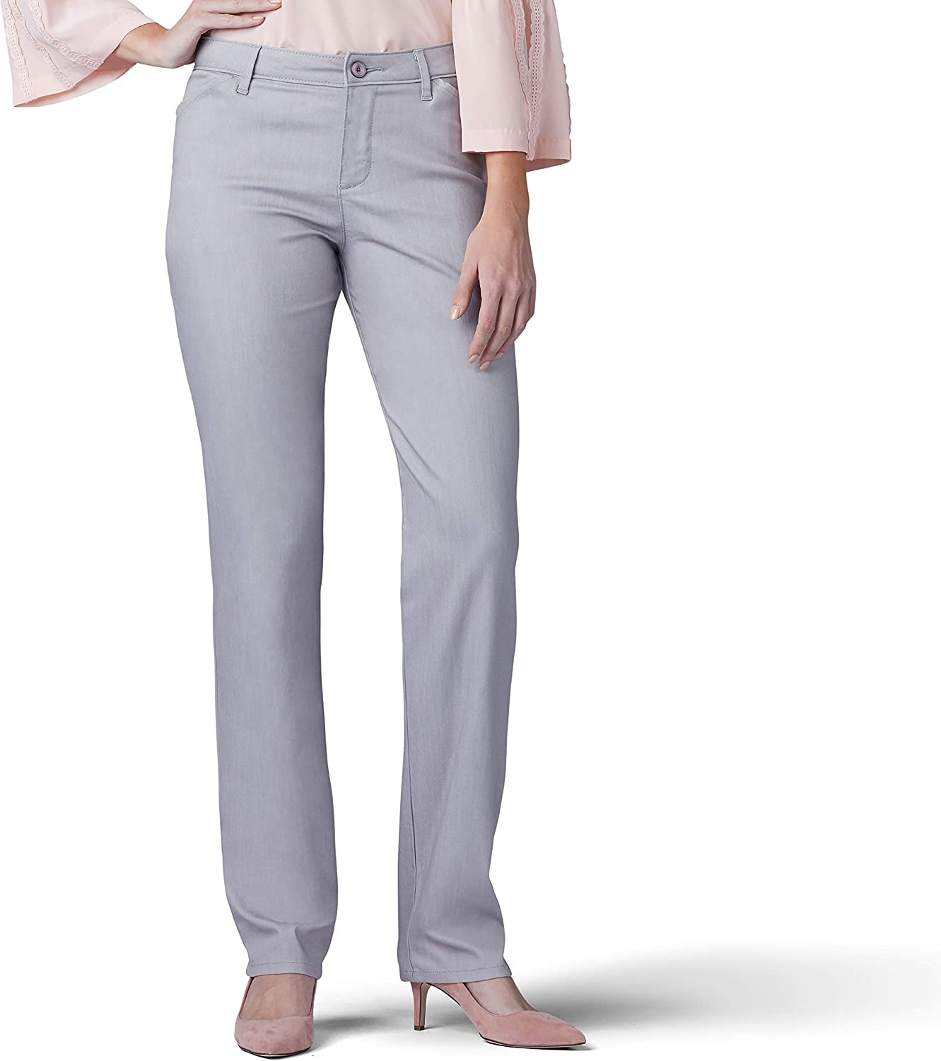 LEE Women/'s Petite Relaxed Fit All Day Straight Leg Pant