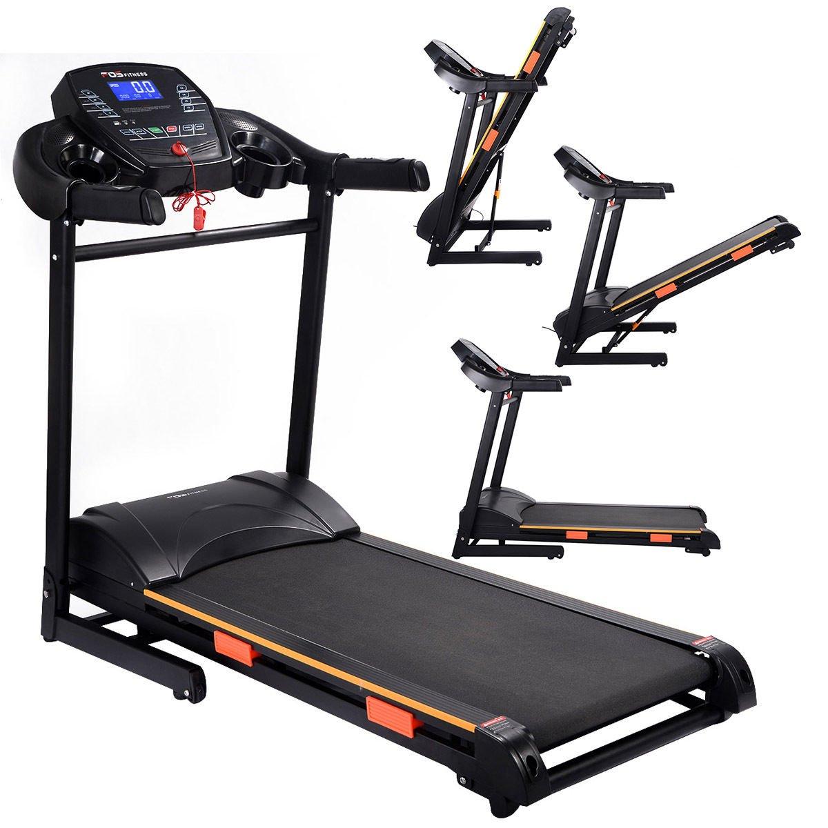 Goplus 1000W Folding Treadmill Electric Motorized Power Running Jogging Machine
