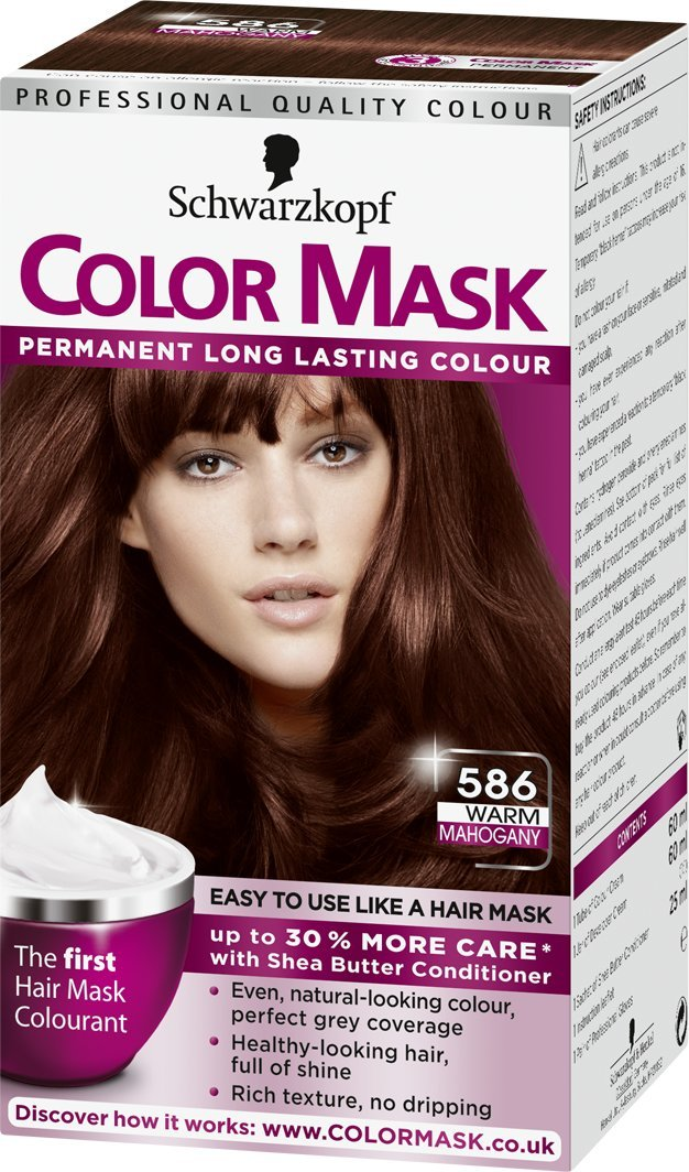 Schwarzkopf Colour Mask Warm Mahogany Number 586 Pack Of 3