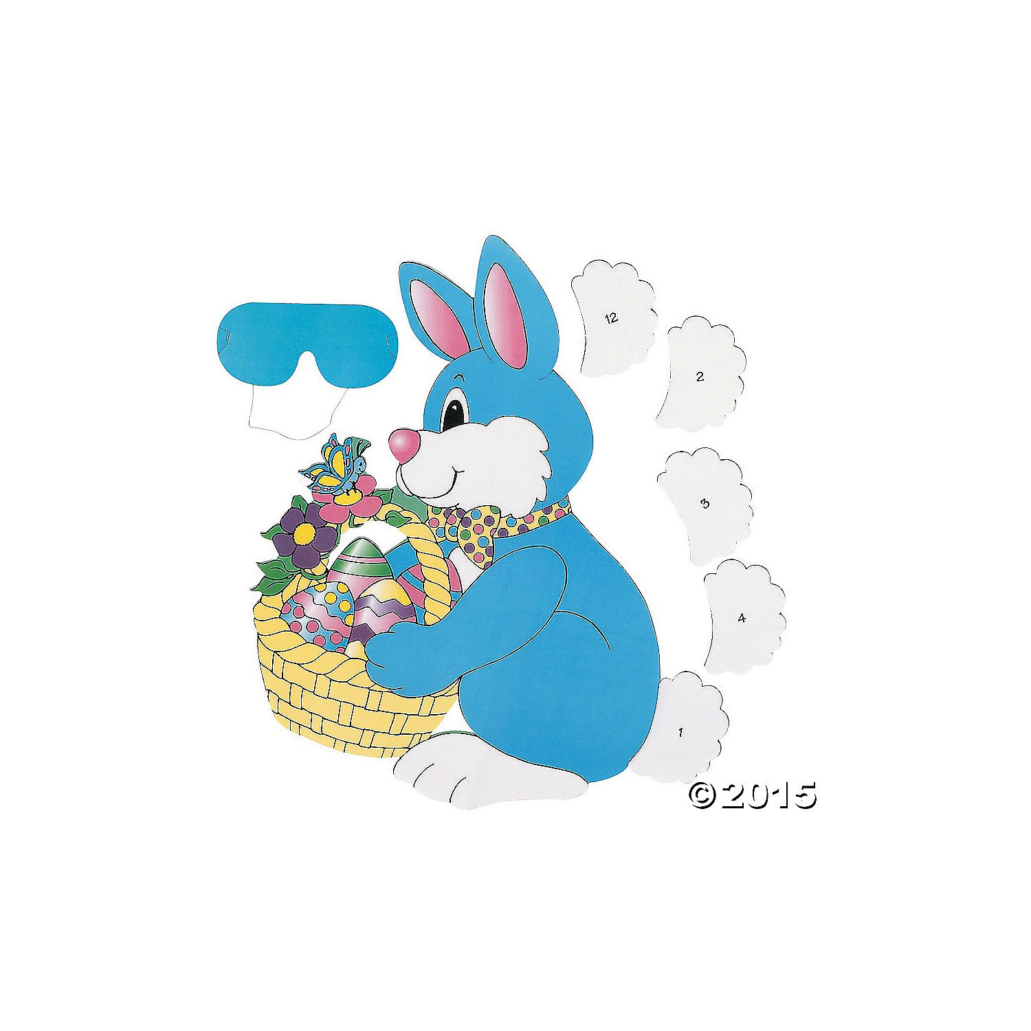 PIN the TAIL on the EASTER BUNNY/Spring PARTY GAME/Party ACTIVITY/New in Package w/INSTRUCTIONS/Blindfold by Fun Express OTC