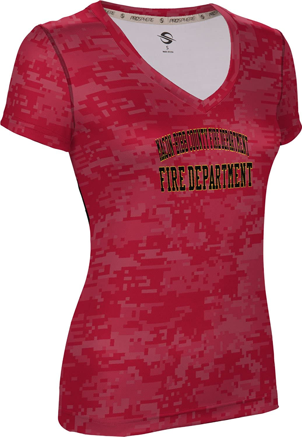 Women's Macon-Bibb County Fire Department Digital SL V-Neck Training Tee