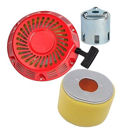 ouyfilters Filtro de aire con retroceso Tire de arranque para Honda GX340 GX390 11HP 13HP Motor