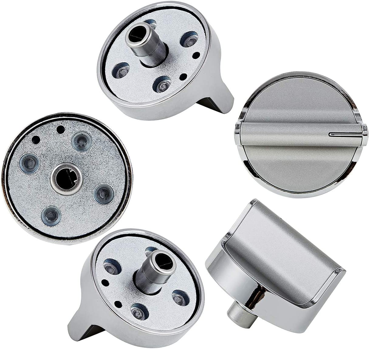 Stainless Steel W10594481 Knob Replacement for Whirlpool Stove//Range Control Knob Replace WPW10594481 W10698166 WCG97US0DS00 PS11756643 AP6023301 High Durable