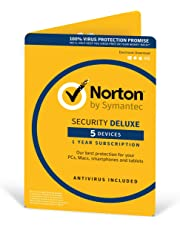 Norton Security Deluxe 2018 | 5 Devices | 1 Year | Antivirus Included | PC/Mac/iOS/Android | Activation Code by Post