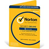 Norton Security Deluxe 2018 | 5 Devices | 1 year | Antivirus included | PC|Mac|iOS|Android | Download