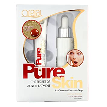 Buy Gima Oreal Pure Skin Acne Treatment Cream With Drop Online At