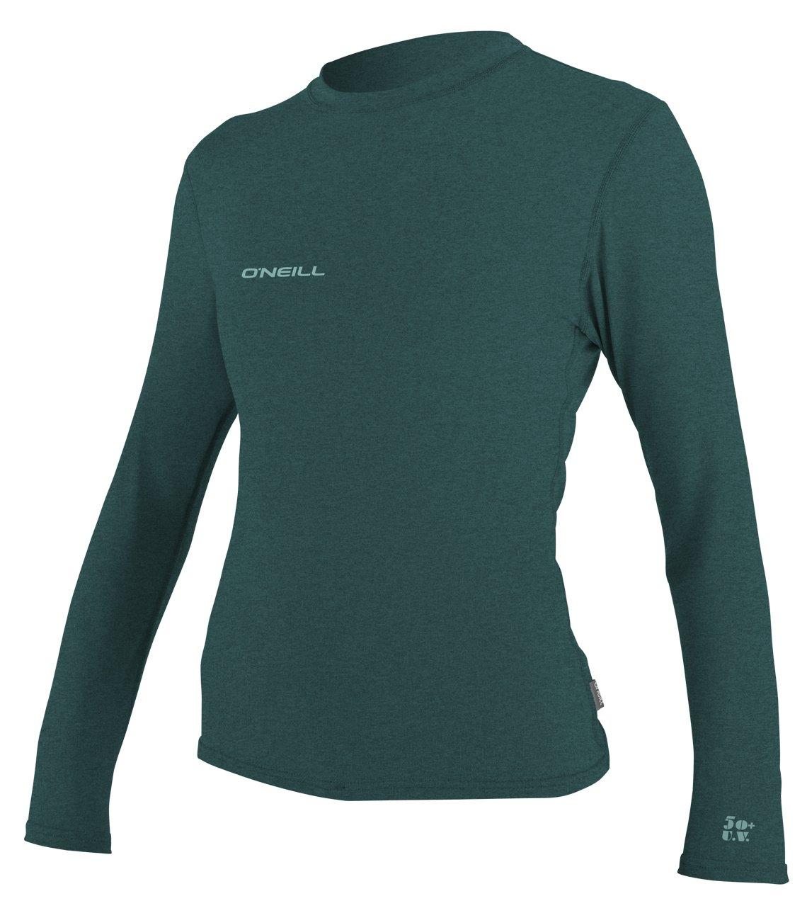 O'Neill Women's Hybrid UPF 50+ Long Sleeve Sun Shirt, Deep Teal, Small