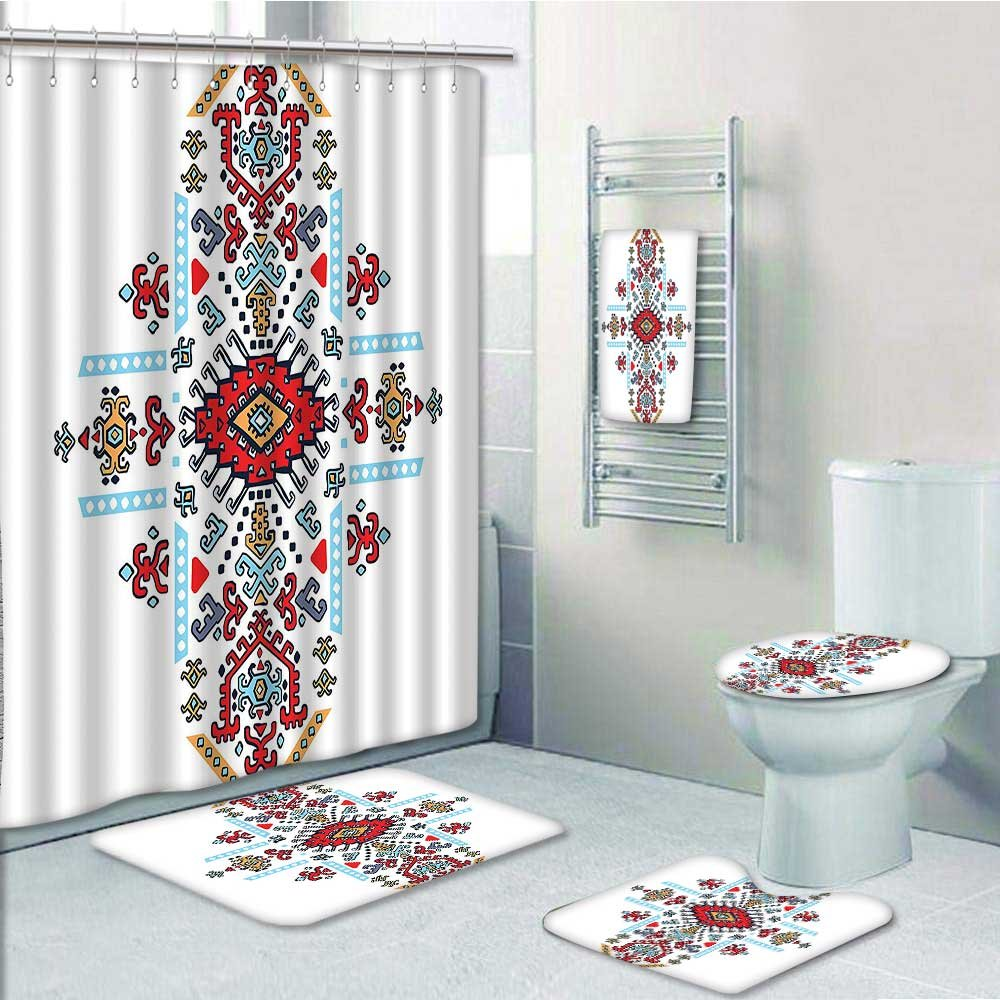 vanfan Designer Bath Polyester 5-Piece Bathroom Set, Mexican and ...