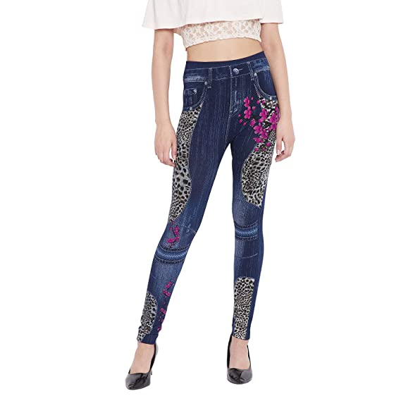 efbe87ac4ebe13 CAMEY Women's Cotton Printed Legging/Jeggings (3549-1-11.LEOPARD ...