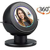 Premium Stand for Echo Spot by &Colors. Convenient 360 Degree Rotation with Smooth Precision Ball Bearings. Stable & Sturdy with Non-Scratch Surface. (BLACK)