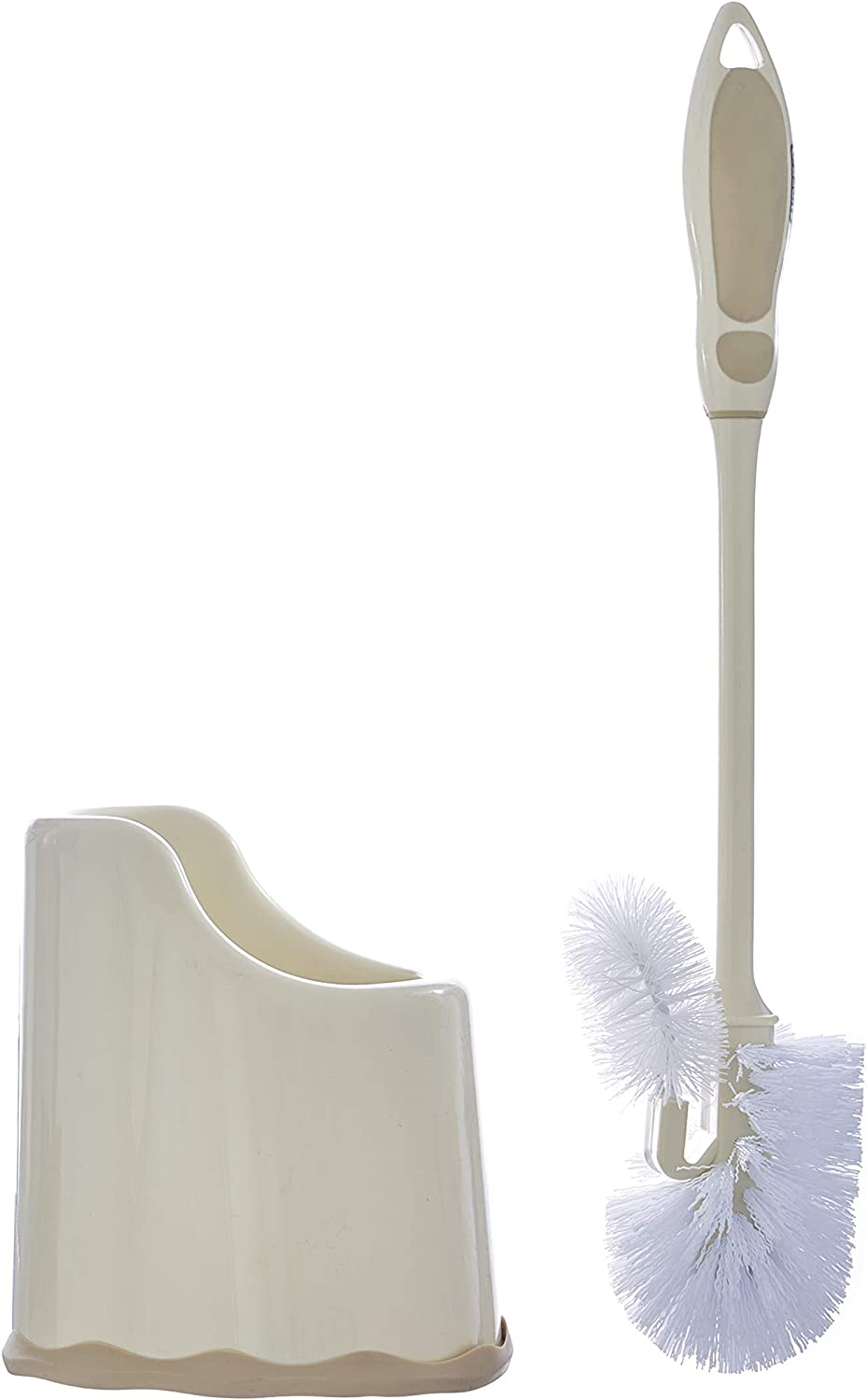 YING Silicone Toilet Brush with Holder with Wall Mounted Sets,Flexible Bathroom Deep Clean Brush Pink