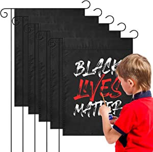 WATINC 5Pcs Blank Garden Flag DIY Plain Black House Flags Personalized Polyester Double Layer Flag Double Sided Decorative Seasonal Flag Decor for Indoor Outdoor Yard Decorations 17.7 x 11.8 in