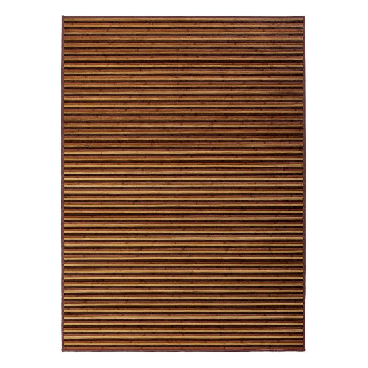 180 x 250 cm Alfombra de bamb/ú para sal/ón LOLAhome Arabia Marr/ón