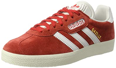 adidas Gazelle Super, Baskets Basses Homme, Rouge (Red/Vintage White/Gold