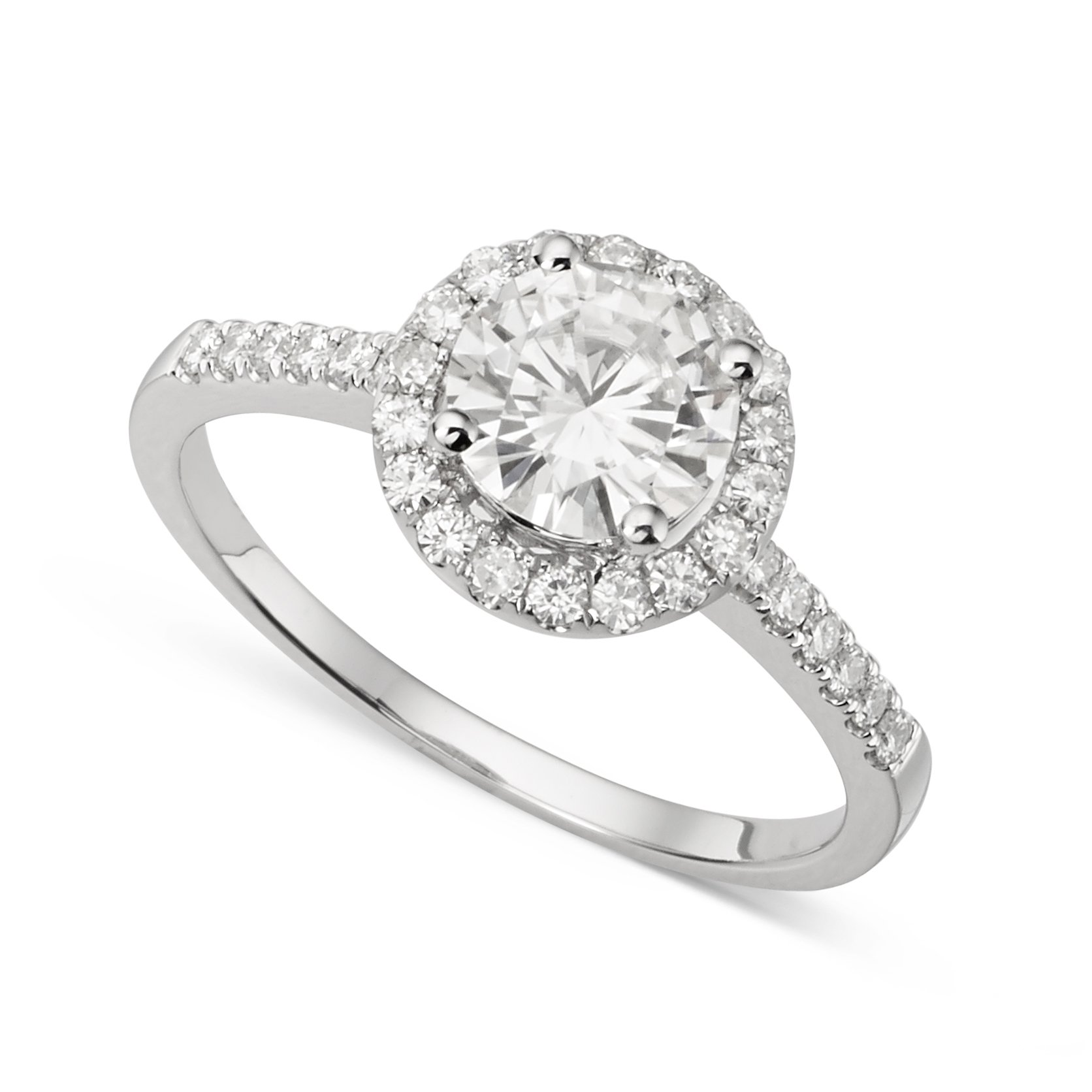 Forever Brilliant 6.5mm Moissanite Engagement Ring - size 8, 1.30cttw DEW By Charles & Colvard
