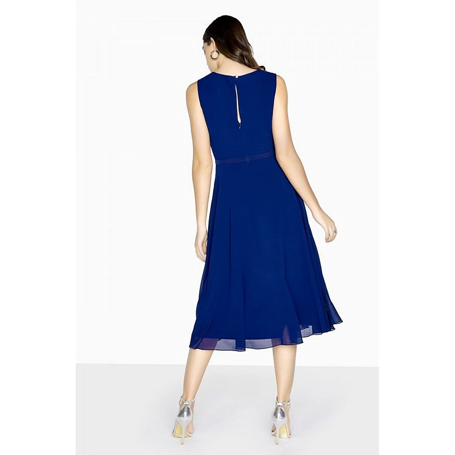 Little Mistress Womens/Ladies Zara Beadwork Midi Prom Dress (10 UK) (Navy): Amazon.co.uk: Clothing