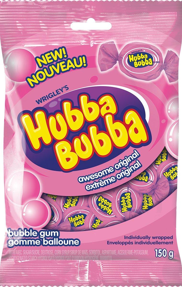 Hubba Bubba Awesome Original Individually Wrapped Bubble Gum Wrigley Canada