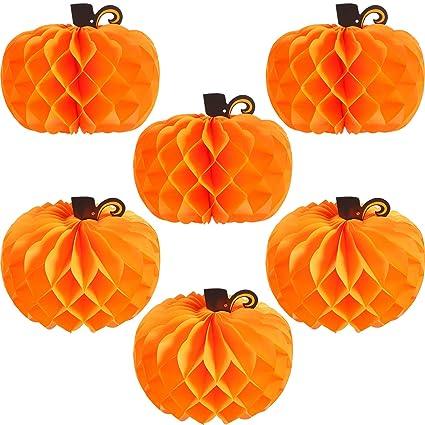 Amazon Com Jovitec 6 Pack 10 2 Inch Paper Pumpkin Honeycomb