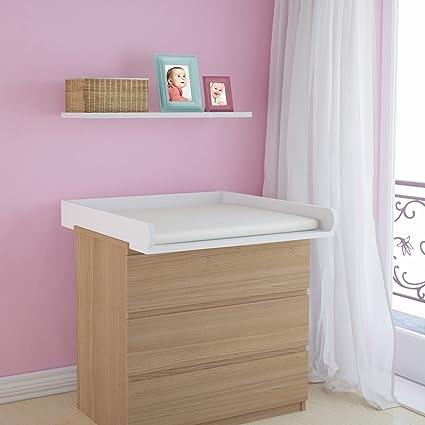 Infantastic – Bandeja para cambiador de bebés - aprox. 80/75,7/8,5 cm - color blanco