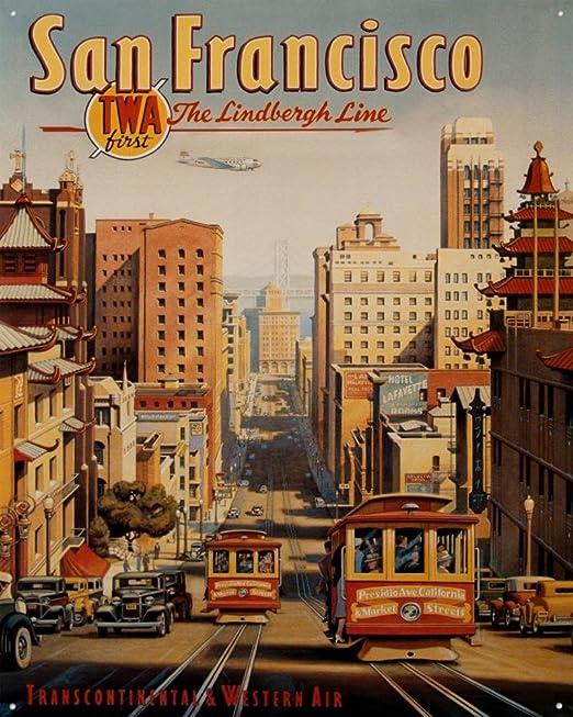 SAN FRANCISCO Cartel de Chapa Placa metal plano Nuevo ...
