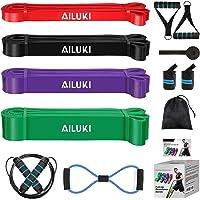 AILUKI Fitnessband Weerstandsbandset Fitnessbanden Oefenband voor krachttraining Crossfit-trainingsband Elastische band…