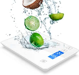 Nicewell White Tempered Glass Food Scale