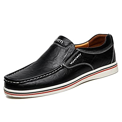 Surprising Day Men Flats Casual Shoes Slip on Loafers Soft Genuine Leather Moccasins Handmade Driving Shoes