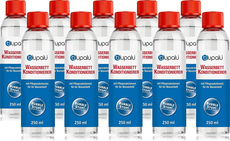 Platz 6 – blupalu 10 x 250 ml Wasserbett Konditionierer Set