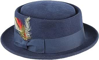 Xposed Sombrero de fieltro Heisenberg para hombre y mujer, 100 % lana, para tarta de cerdo que se rompe mal