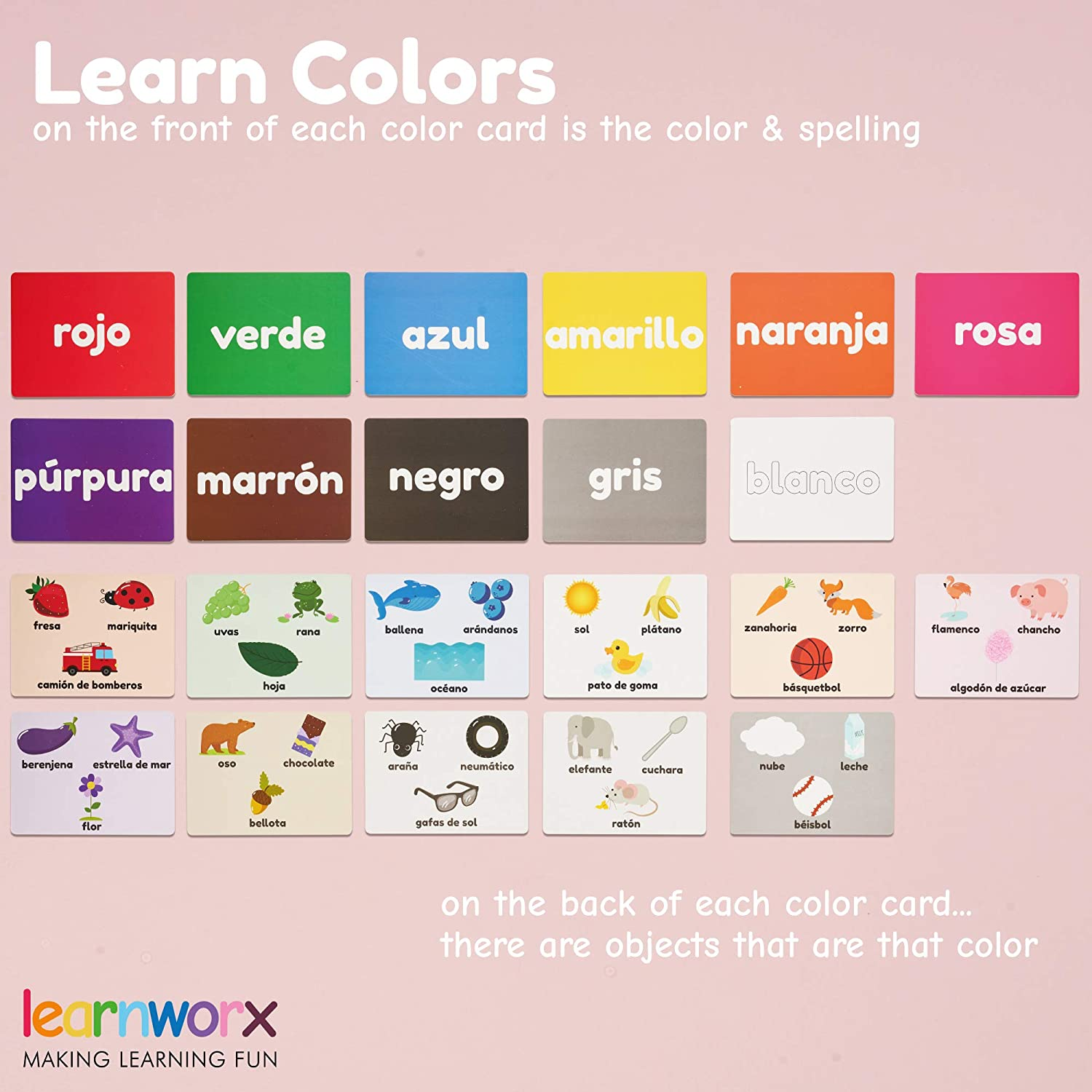 Counting 101 Cards Colors Spanish Flash Cards for Kids and Toddlers Body Parts 202 Sides Numbers Fun Learning and Educational Flashcards Letters /& More Learn Shapes Great Value