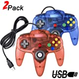 2 Packs USB Retro Controllers for N64 Gaming, miadore PC Classic N64 Game Pad Joypad for Windows PC MAC Raspberry Pi…