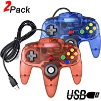 2 Pack USB Retro Controllers for N64 Gaming, miadore PC Classic N64 Game Pad Joypad for Windows PC MAC Raspberry Pi…