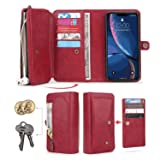iPhone XR Flip Case, Cover for iPhone XR Leather