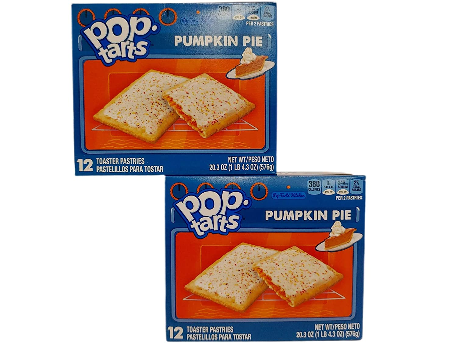 Pop-Tarts Breakfast Toaster Pastries, Frosted Pumpkin Pie Flavored, Limited Edition, 2020 Packaging, 20.30 Oz Box (Pack of 2)