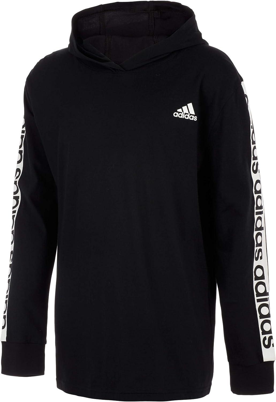 adidas Boys' Long Sleeve Cotton Jersey Hooded T-Shirt Tee