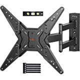 Full Motion TV Wall Mount for Most 23-55 Inch LED LCD Flat & Curved TVs with Swivels, Articulating, Tilt & Extends, Wall Moun