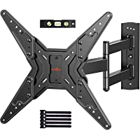 Full Motion TV Wall Mount for 23-55 Inch LED LCD Flat Curved TVs with Swivel Articulating Extends Tilt Arm fit Max VESA…
