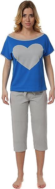 TALLA XS. Italian Fashion IF Pijama Camiseta y Pantalones Mujer 2L3S172T 0225