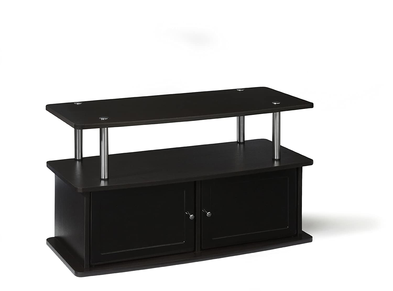 Convenience Concepts Designs2Go TV Stand with 2 Cabinets for Flat Panel TV s Up to 36-Inch or 80-Pound, Dark Espresso
